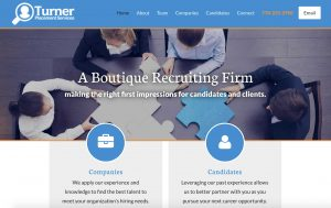 Turner Placement Services Web Design